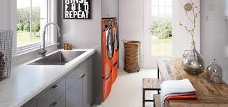 wilsonart white carrara laminate at home in the laundry room