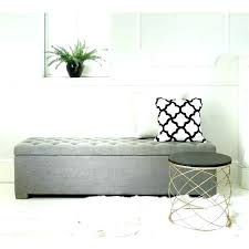 bedrooms and more. Ottoman Storage Bench Grey Upholstered Buttons For Bedroom Bedrooms And More I