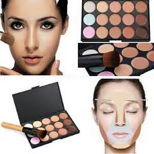 image is loading uk 15 colors concealer kit with brush face