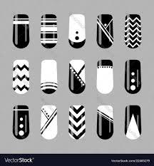 Nail Art Designs On White Nails Nail Art Design Set Of Black And White Nails