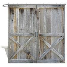 cafepress old rustic barn door decorative fabric shower curtain 69