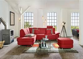Wohnlandschaft In Textil Rot Sofas Couches Sofa Couch