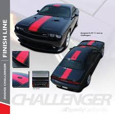 3m Design Line Vs Finish Line Dodge Challenger Center Racing Stripes 3m Finish Line 2011