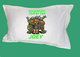 teenage mutant ninja turtles personalized pillow case custom name bedding  sheets