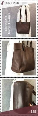 ... vtg coach dark brown leather waverly tote
