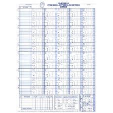 Glovers Scorebook Pitching Hitting Scouting Sheets