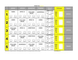unique t25 workout calendar printable