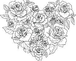 Coloring Pagesof A Flower Vase Of Flowers Coloring Page Free