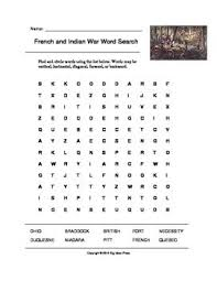 best french n war lesson plans images  french and n war word search grades 4 5