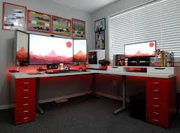 Basement Office Design Fascinating Home Office Battlestation Rebrn