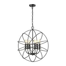 titan lighting yardley 6 light oil rubbed bronze chandelier with metal open cage shade