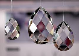 pear shape crystal chandelier parts