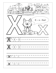 free handwriting worksheets for the alphabet second grade letter x ...