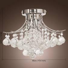 saint mossi modern crystal chandelier with lights flush mount