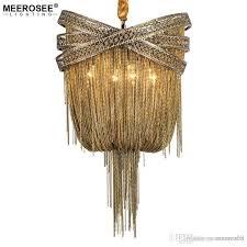 bronze modern aluminum chandelier light italian tassel design chain res lamp hanging lighting for living room foyer star chandelier wedding chandeliers