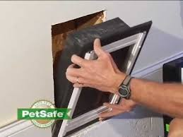 petsafe wall entry door installation