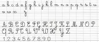 Online Cursive Chart French Cursive Handwriting K 8 Curriculum Board The Well