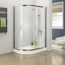 curved round sliding shower screen