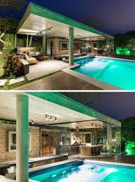 home swimming pools at night. As This Pool And House Both Have Plenty Of Light, The Entire Area Can Home Swimming Pools At Night N