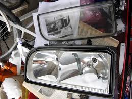 electrical 1997 volvo 850 wagon project headlight assembly removed glass lens detached