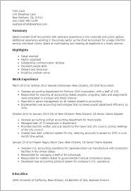 1 Chief Accountant Resume Templates Try Them Now Myperfectresume