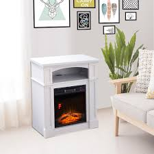 homcom 32 1500w freestanding full frame electric fireplace stove heater portable with remote control