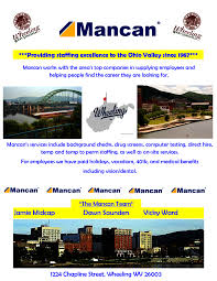 Mancan Staffing Search Jobs In Wheeling Wv