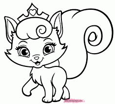 Animal Cute Kitten Coloring Pages To Print Full Size Of Animalcute ...