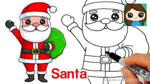 cute santa claus drawing. Modren Drawing How To Draw Santa Claus Easy With Cute Drawing