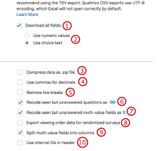 Data Export Options - Qualtrics Support