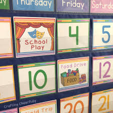 School Days Calendar Cards Pocket Chart Instant Digital