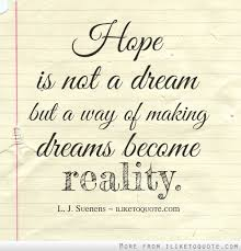 Quotes About Hope And Dreams Best Of Quotes About Hopes And Dreams 24 Quotes