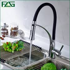 Black Kitchen Sink And Taps Kitchen Faucet Black And Chrome Pull Out 360 Degree Rotating
