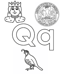 Small Picture Q Words Alphabet Coloring Pages Alphabet Coloring pages of