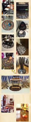 Non Slip Kitchen Flooring Fashion Mayan Totem 100cm Round Carpet Living Kitchen Non Slip