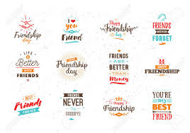 Happy Friendship Day Vector Typographic Colorful Design Inspirational