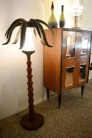 50 s palm floor lamp hand carved and painted wood domus nova designdomus nova design