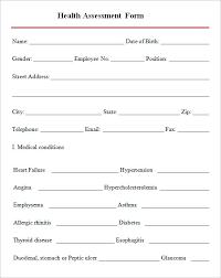 Sample Assessment Form Mental Health Intake Assessment Form Samples