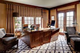 luxury home office. luxurious home officelibrarystudy with elegant woodwork and patterned floors luxury office