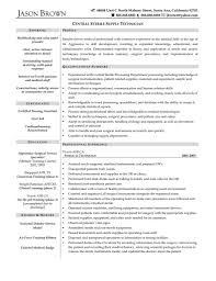 supply technician resume sample sterile processing technician resume daway dabrowa co ooder co