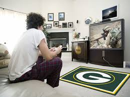 green bay packers nfl area rug 4 ft x 6 ft