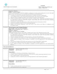 Sap Sample Resumes Sap Abap Sample Resume 3 Years Experience Successmaker Co
