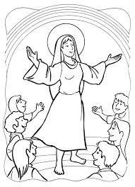 Small Picture Asumption and Coronation of Mary Coloring Pages