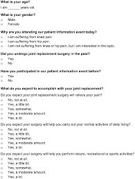 Questionnaire Consisting Of Five Questions Requesting