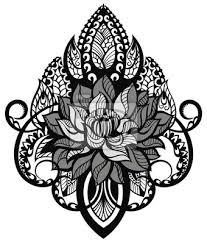 Obraz Lotus Tetování Mandala