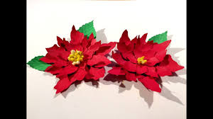 Paper Crafts For Christmas Christmas Flower Poinsettia Paper Flowers Christmas