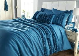 dark teal duvet cover elegant and luxurious teal bedding with textured flower decoration king bed frame