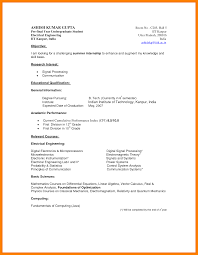 Fair Resume Format For Indian Engineering Students For Your Free