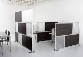 interior: Brilliant Design For Permanent Room Dividers With Black Chair  Closed Square Table And Book