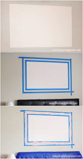 how to paint a frame on the wall this is so cool it is a thrifty way to make a big impact on decor in the room